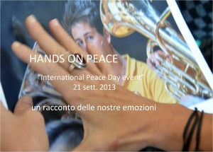 BANNER hands on peace