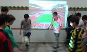 Palleggi nello stadio di Wembley